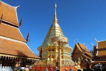 Goldener Chedi des Wat Phra That Doi Suthep